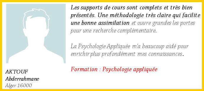 aktouf1 Psychologie Appliquée (à Distance)