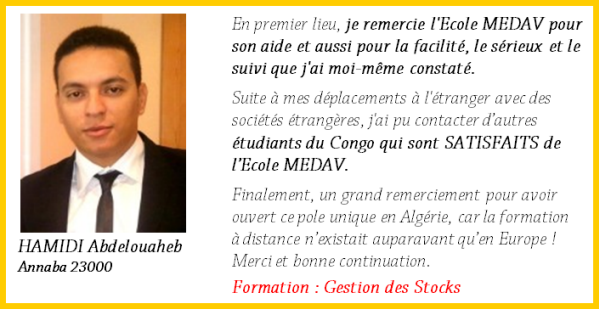 hamidi  Gestion des Stocks (à Distance)