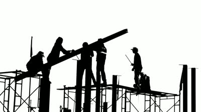 stock footage black and white builders Nous nous excusons