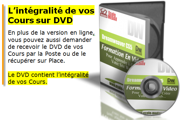 dvd dw Dreamweaver CS5   Formation à Distance