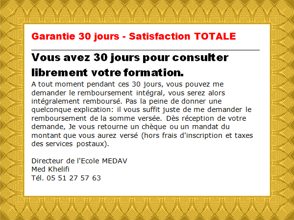 garantie Formation Maintenance Informatique   à Distance