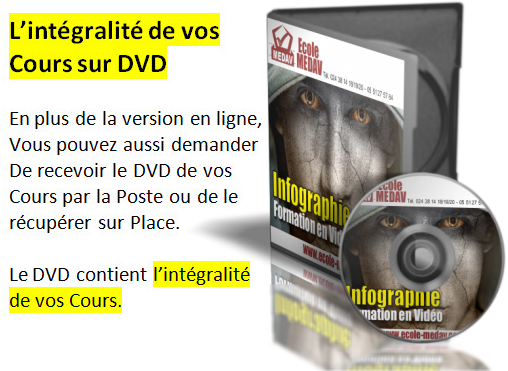 dvd infographie Infographie   Formation à Distance